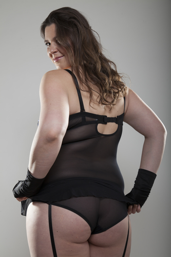 Plus Size Model in Lingerie